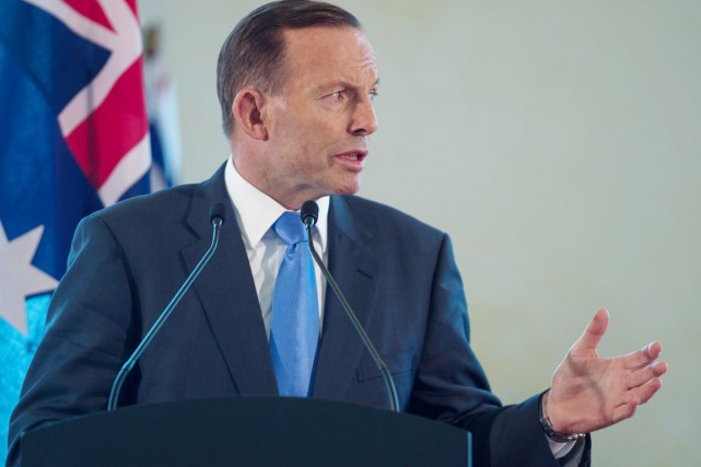 Le premier ministre australien Tony Abbott.... (PHOTO MOHD RASFAN, ARCHIVES AFP)