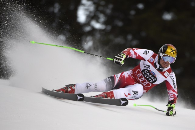 Marcel Hirscher... (PHOTO OLVIER MORIN, AFP)