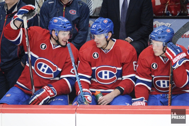 Michel Therrien a réuni Alex Galchenyuk, Max Pacioretty... (PHOTO BERNARD BRAULT, LA PRESSE)