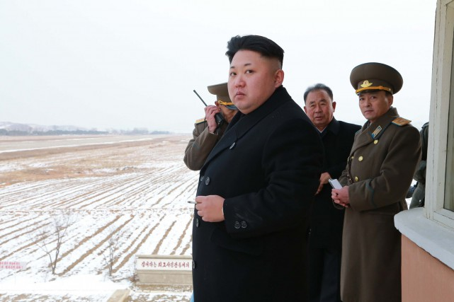 Le leader nord-coréen, Kim Jong-un... (Photo KCNA, AFP)