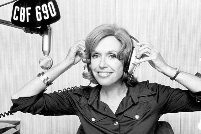 Michelle Tisseyre en 1974... (Photo fournie par la Société Radio-Canada)