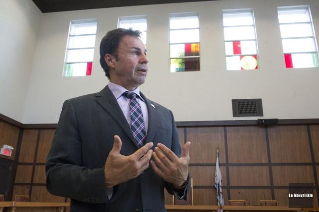Le maire de Shawinigan, Michel Angers, assure qu'il... (Photo: Stéphane Lessard, Le Nouvelliste)