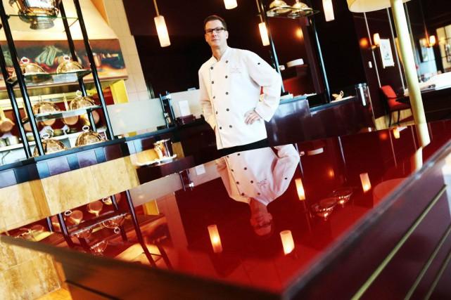 Chef Pierre Lortie, du restaurant Le Baccara du... (Étienne Ranger, LeDroit)