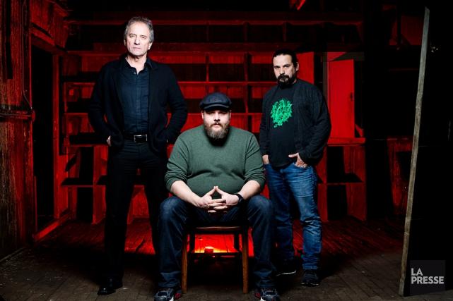 Michel Côté, Antoine Bertrand et Robin Aubert, les... (PHOTO: OLIVIER JEAN, LA PRESSE)
