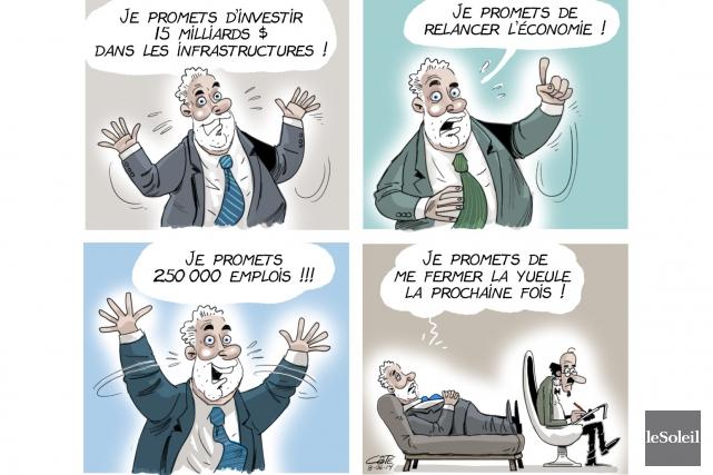 Toujours difficile pour un caricaturiste de s'ajuster aux changements de... (Le Soleil, André-Philippe Côté)