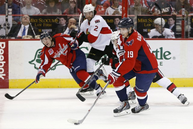 Braden Holtby a repoussé 38 lancers, Jay Beagle et Nicklas Backstrom ont marqué... (Photo USA Today Sports)