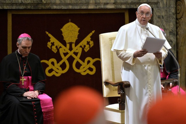 «Chères soeurs et chers frères chrétiens du Moyen-Orient,... (Photo Andreas Solaro, AP)