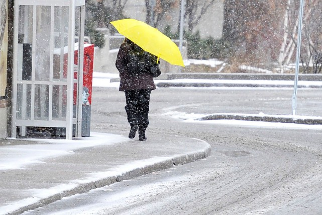 La région devrait passer un réveillon fait de pluie et de glace: dame Nature a... (Patrick Woodbury, Archives LeDroit)