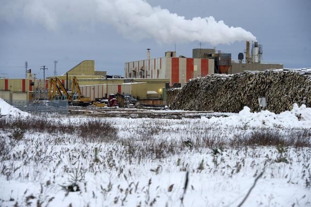 Les dommages causé à l'usine Arbec du secteur... (photo: Stéphane Lessard)