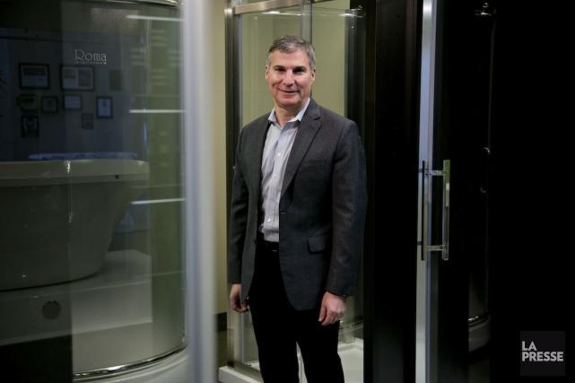 Mark Reinish, vice-président de Fleurco, est l'un des... (PHOTO DAVID BOILY, LA PRESSE)