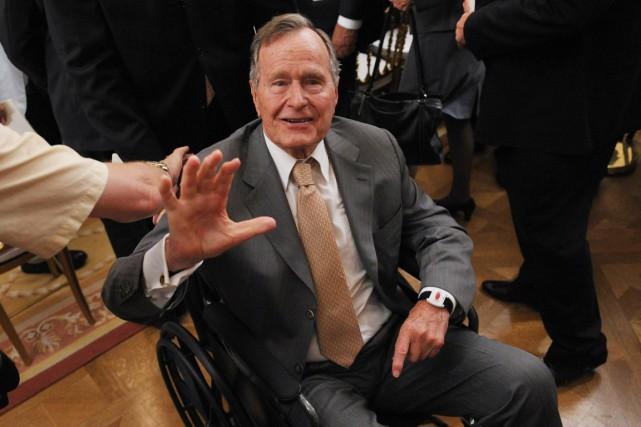 George H.W. Bush a été président des États-Unis... (Photo archives AFP)