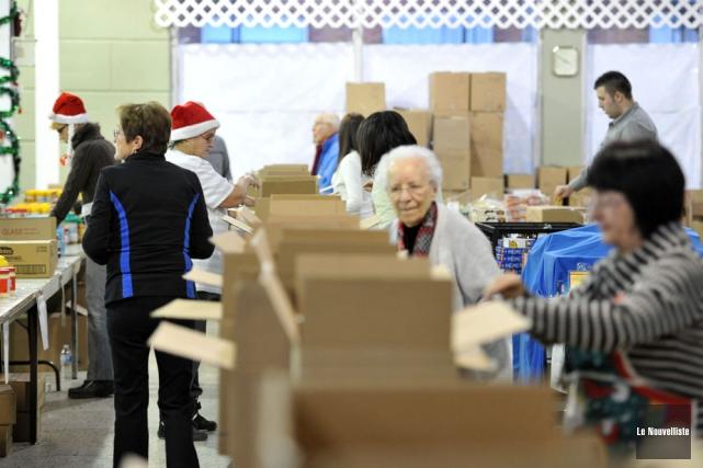 Le travail de centaines de bénévoles a été... (Photo: Stéphane Lessard, Le Nouvelliste)