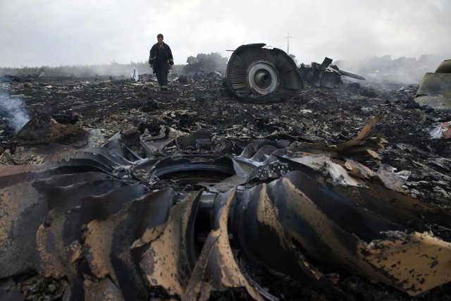 L'écrasement du vol MH17 de la Malaysia Airlines, qui avait... (Photo Maxim Zmeyev, archives Reuters)