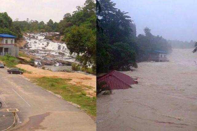 Une importante opération de secours a été lancée mercredi en Malaisie pour... (Photo tirée de Twitter/@BaimAlli)