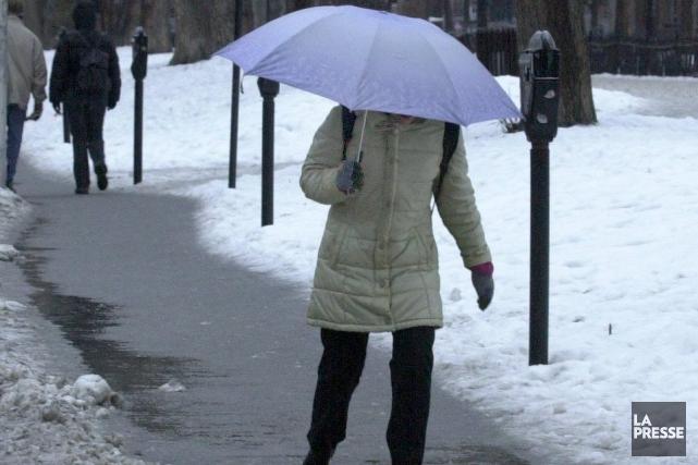 Partout dans la province, la neige devrait avoir... (PHOTO ARCHIVES LA PRESSE)