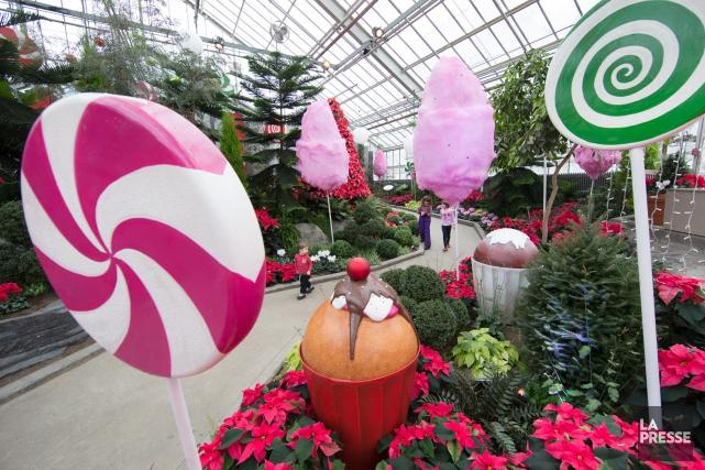 Noël bonbon,au Jardin botanique jusqu'au 5janvier.... (Photo Robert Skinner, La Presse)