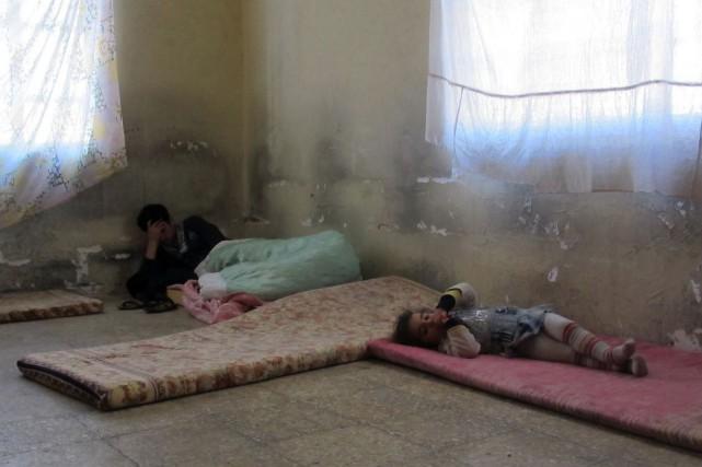 La famille de Ghassan a été accueillie dans... (PHOTO SABAH ARAR, AFP)