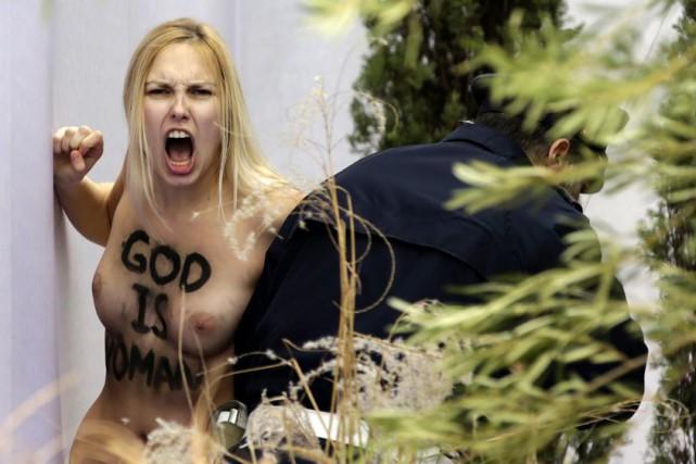 La femene a été poursuivie par un gendarme... (Photo AFP)