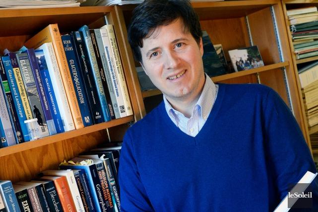Patrick Lajeunesse, chercheur en géologie de l'Université Laval,... (Photo Le Soleil, Jean-Marie Villeneuve)
