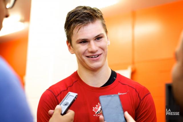 Morin, un choix de première ronde des Flyers... (PHOTO SARAH MONGEAU-BIRKETT, ARCHIVES LA PRESSE)