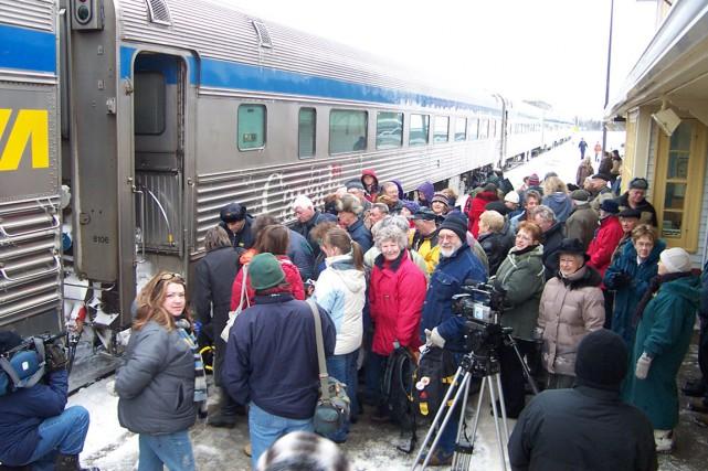 Le retrait temporaire de Via Rail en raison... (Collaboration spéciale Gilles Gagné)