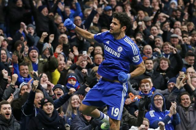 Diego Costa a inscrit le deuxième but des... (PHOTO JUSTIN TALLIS, AFP)