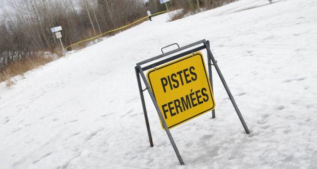 Les pistes du parc Rivière-du-Moulin étaient fermées, le... (Photo Mariane L. St-Gelais)
