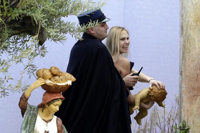 La jeune femme blonde originaire d'Ukraine, Iana Aleksandrovna... (Photo AFP)