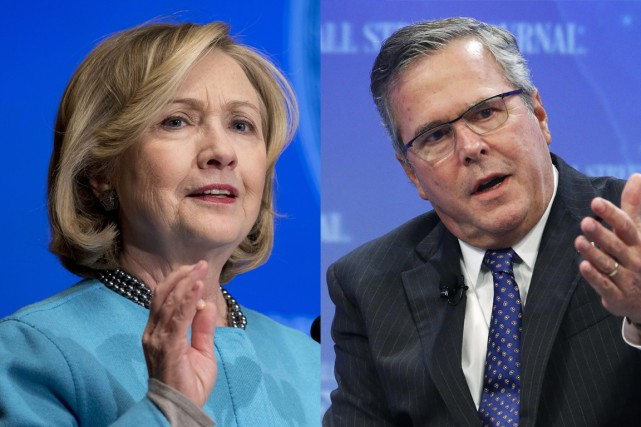 La possibilité d'un affrontement Bush-Clinton en 2016 est... (Photos AP et Reuters)