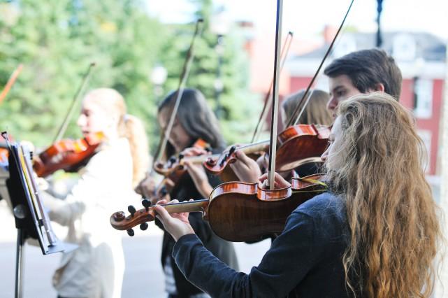 Les élèves du Conservatoire de musique de Trois-Rivières... (PHOTO: ÉMILIE O'CONNOR)