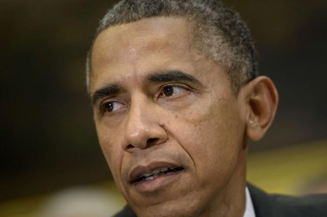 Le président des États-Unis, Barack Obama.... (PHOTO BRENDAN SMIALOWSKI, AFP)