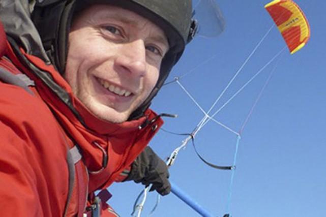 Frédéric Dion a atteint le centre de l'Antarctique... (Photo tirée de Facebook)