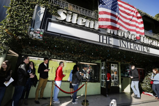 The Interview a été projeté dans 330 cinémas... (PHOTO RICHARD VOGEL, AP)