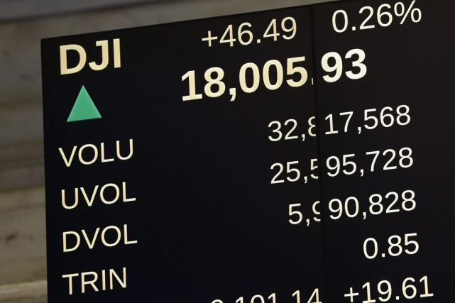 L'indice Dow Jones en a surpris plusieurs en... (Photo Seth Wenog, AP)