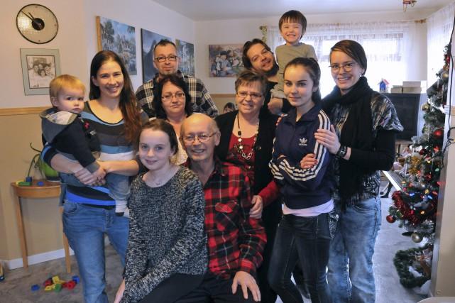 Toute la famille était réunie hier dans le... ((Photo Michel Tremblay))