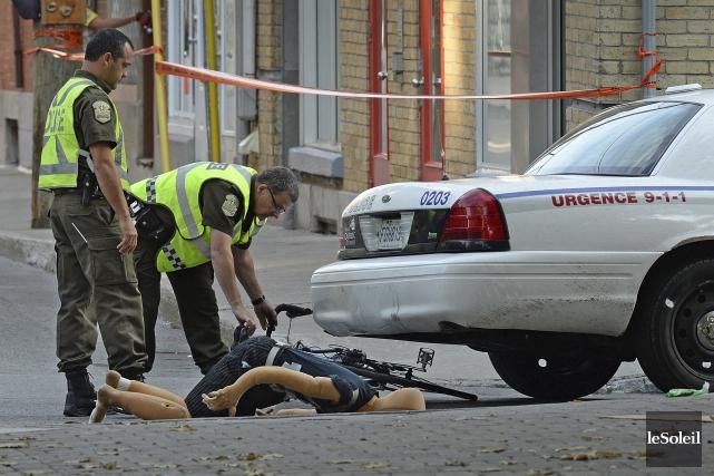 Le tragique décès du cycliste Guy Blouin a... (Photothèque Le Soleil, Patrice Laroche)