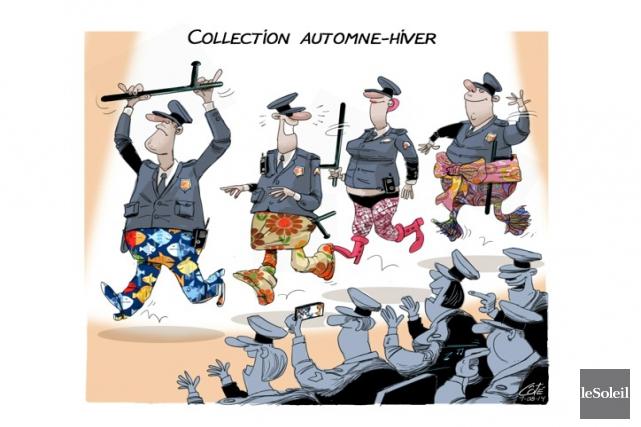 La police, c'est toujours un sujet vendeur. Les citoyens ont une relation... (Le Soleil, André-Philippe Côté)