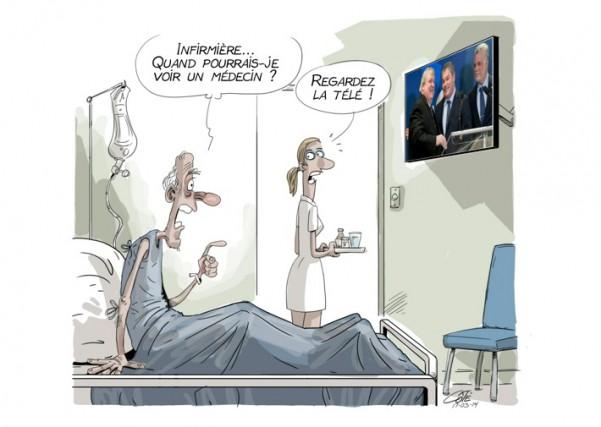 La santé, c'est près de la moitié du budget de l'État, mais le plus comique,... (Le Soleil, André-Philippe Côté)