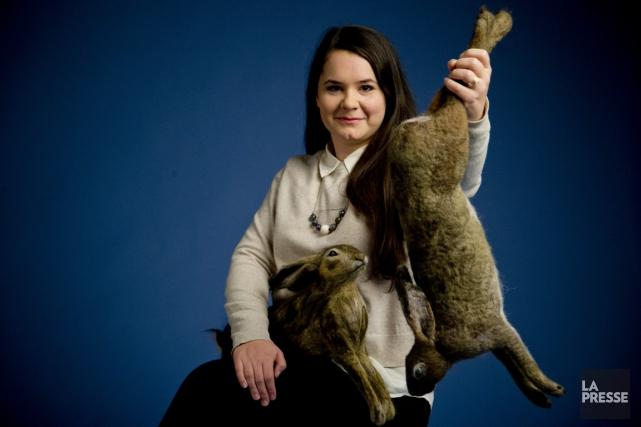 L'animal fait partie intégrante de la démarche deVicky... (PHOTO DAVID BOILY, LA PRESSE)