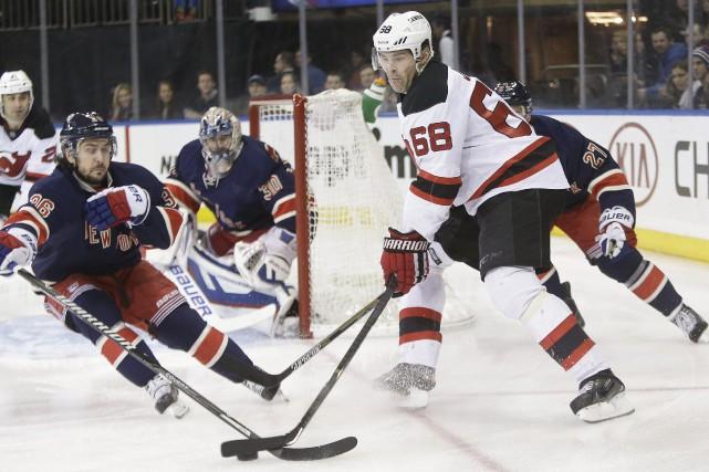 Les Rangers (19-10-4) ont remporté 12 de leurs... (Photo Frank Franklin II, AP)