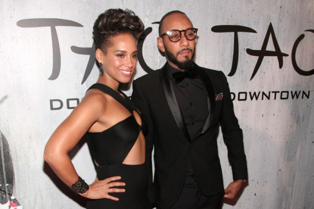 Alicia Keys et son mari Swizz Beatz.... (Photo Andy Kropa/Invision/AP)