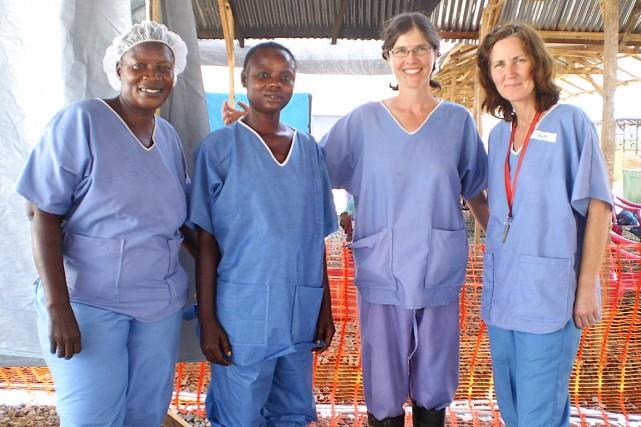 Appelés à soigner les victimes de l'épidémie d'Ebola... (Photo fournie par Élizabeth Hinton)