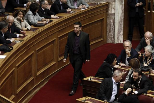 La manière de décrire l'arrivée du parti Syriza... (PHOTO ALKIS KONSTANTINIDIS, AFP)