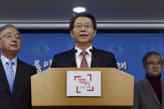 Le ministre de l'Unification Ryoo Kihl-jae a déclaré... (Associated Press)