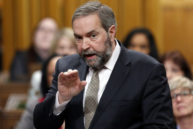 Thomas Mulcair n'a toutefois pas pu préciser, vendredi,... (Photo Chris Wattie, Archives La Presse canadienne)