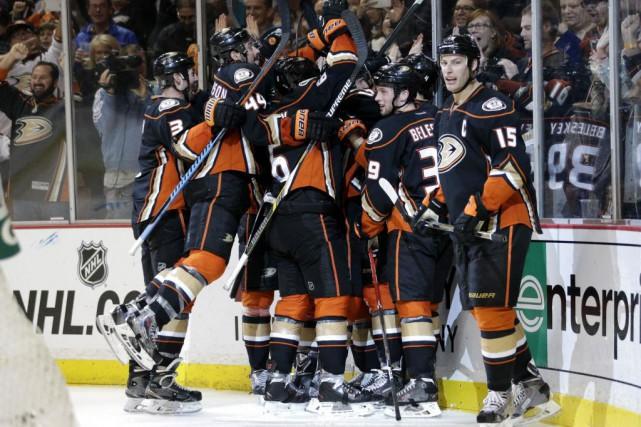 Les Ducks d'Anaheim ont arraché une victoire de... (Photo Jae C. Hong, AP)