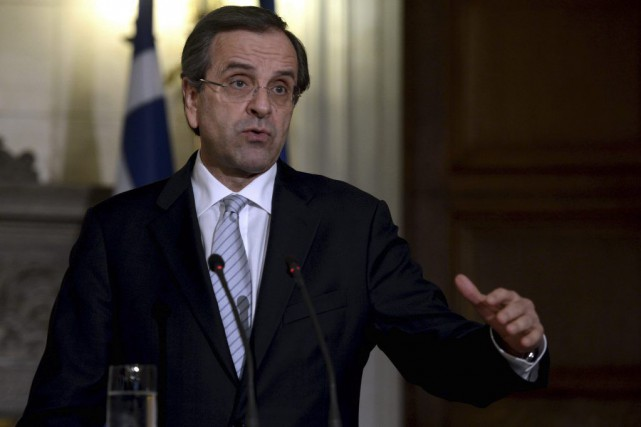 Le premier ministre grec, Antonis Samaras.... (Photo ARIS MESSINIS, archives AFP)