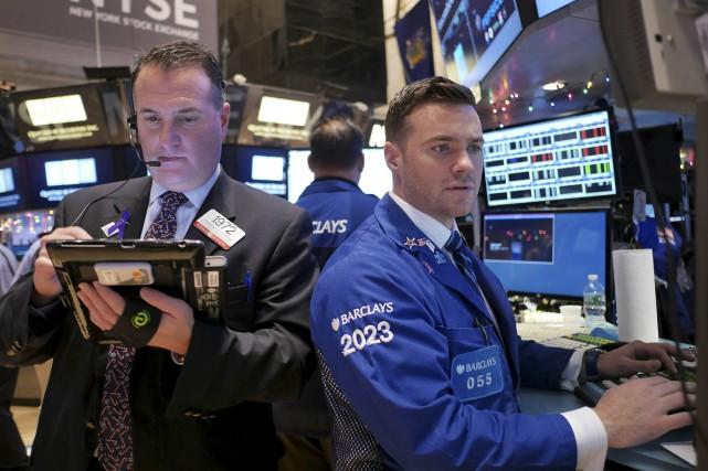 Wall Street a fini sans grand changement lundi, les inquiétudes sur la... (Photo Seth Wenig, AP)