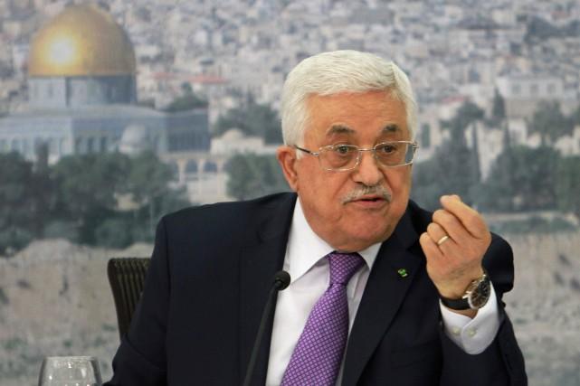 Le président palestinien, Mahmoud Abbas... (Photo Nasser Shiyoukhi, Archives AP)