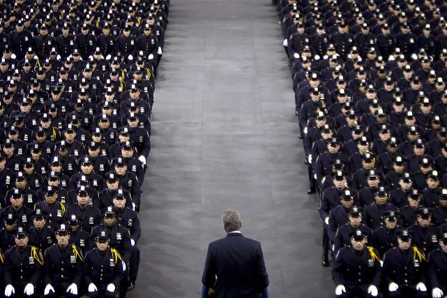 M. de Blasio prenait la parole lors d'une... (Photo CARLO ALLEGRI, Reuters)
